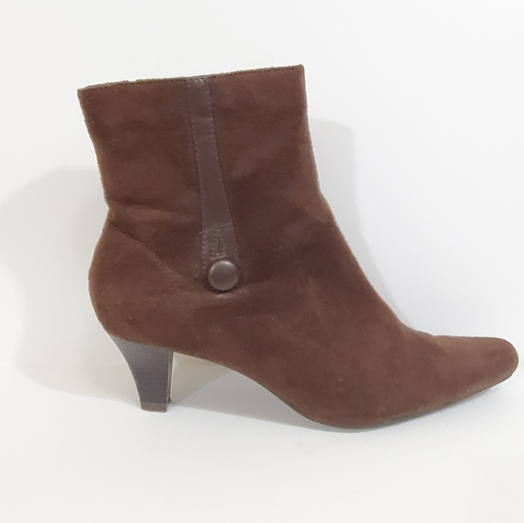 Womens Brown Ankle Boots 9 Wide